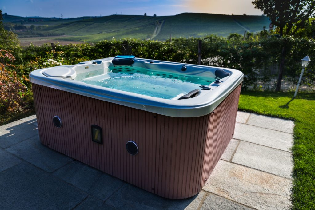 A hot tub for hot tub removal
