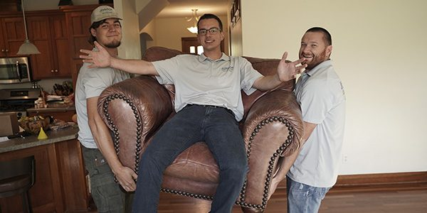 Couch removal services by Johnson Junk Removal