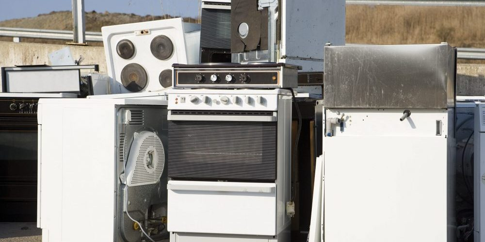 Old appliances in need of appliance removal services